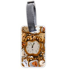 Time Clock Watches Luggage Tags (one Side)