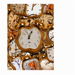 Time Clock Watches Large Garden Flag (two Sides)
