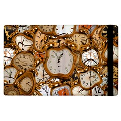 Time Clock Watches Apple Ipad 2 Flip Case by Mariart