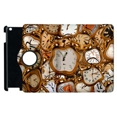 Time Clock Watches Apple Ipad 3/4 Flip 360 Case