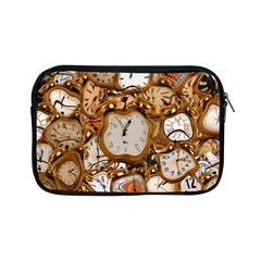 Time Clock Watches Apple Ipad Mini Zipper Cases by Mariart