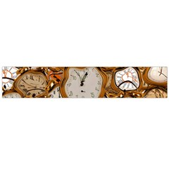 Time Clock Watches Large Flano Scarf