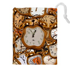 Time Clock Watches Drawstring Pouch (xxl)