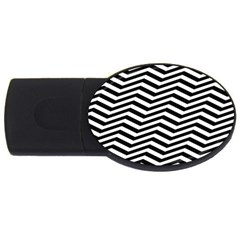Zigzag Chevron Pattern Usb Flash Drive Oval (2 Gb)