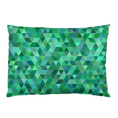 Teal Green Triangle Mosaic Pillow Case
