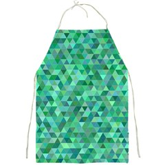 Teal Green Triangle Mosaic Full Print Aprons