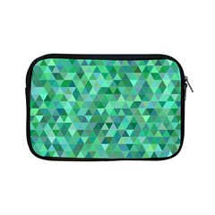 Teal Green Triangle Mosaic Apple Ipad Mini Zipper Cases
