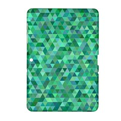 Teal Green Triangle Mosaic Samsung Galaxy Tab 2 (10 1 ) P5100 Hardshell Case