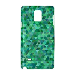 Teal Green Triangle Mosaic Samsung Galaxy Note 4 Hardshell Case