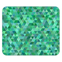Teal Green Triangle Mosaic Double Sided Flano Blanket (small)