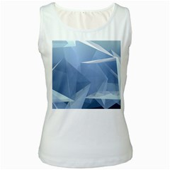 Wallpaper Abstraction Women s White Tank Top
