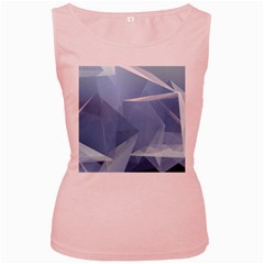Wallpaper Abstraction Women s Pink Tank Top