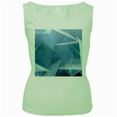 Wallpaper Abstraction Women s Green Tank Top