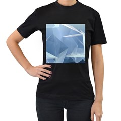 Wallpaper Abstraction Women s T Shirt (black) (two Sided)