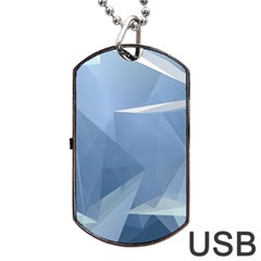 Wallpaper Abstraction Dog Tag Usb Flash (two Sides)