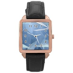 Wallpaper Abstraction Rose Gold Leather Watch