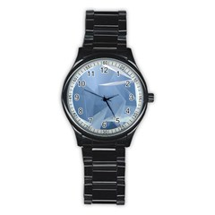 Wallpaper Abstraction Stainless Steel Round Watch