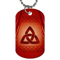The Celtic Knot In Red Colors Dog Tag (two Sides) by FantasyWorld7