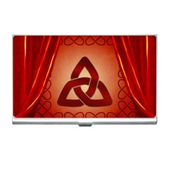 The Celtic Knot In Red Colors Business Card Holder