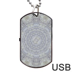 Lace Flower Planet And Decorative Star Dog Tag Usb Flash (two Sides)