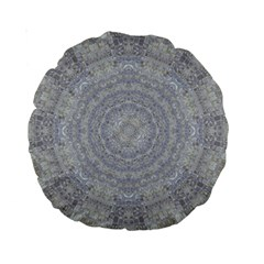 Lace Flower Planet And Decorative Star Standard 15  Premium Round Cushions by pepitasart