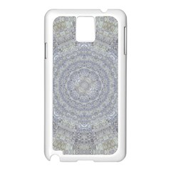 Lace Flower Planet And Decorative Star Samsung Galaxy Note 3 N9005 Case (white)