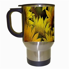 Surreal Sunflowers Travel Mugs (white) by retrotoomoderndesigns