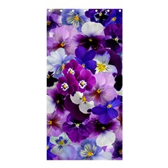 Pretty Purple Pansies Shower Curtain 36  X 72  (stall)  by retrotoomoderndesigns