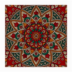 Mandala - Red & Teal Medium Glasses Cloth (2-side) by WensdaiAmbrose