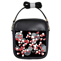 Plumflower Girls Sling Bag