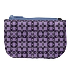 Grid Of Elegance  Large Coin Purse
