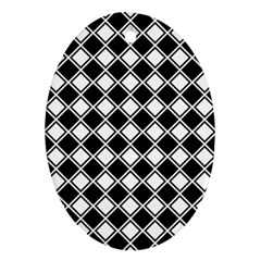 Square Diagonal Pattern Ornament (oval)