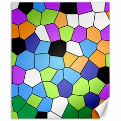 Stained Glass Colourful Pattern Canvas 8  X 10  by Mariart