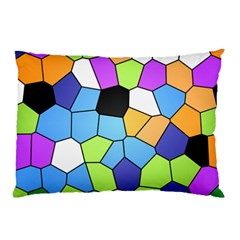 Stained Glass Colourful Pattern Pillow Case by Mariart