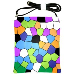 Stained Glass Colourful Pattern Shoulder Sling Bag