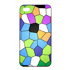 Stained Glass Colourful Pattern Apple Iphone 4/4s Seamless Case (black) by Mariart