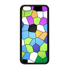 Stained Glass Colourful Pattern Apple Iphone 5c Seamless Case (black)