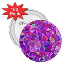 Pink Triangle Background Abstract 2 25  Buttons (100 Pack)
