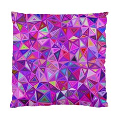 Pink Triangle Background Abstract Standard Cushion Case (one Side) by Mariart