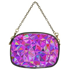 Pink Triangle Background Abstract Chain Purse (two Sides) by Mariart