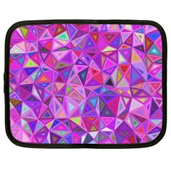 Pink Triangle Background Abstract Netbook Case (xl) by Mariart
