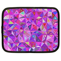 Pink Triangle Background Abstract Netbook Case (xxl)