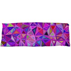 Pink Triangle Background Abstract Body Pillow Case Dakimakura (two Sides) by Mariart