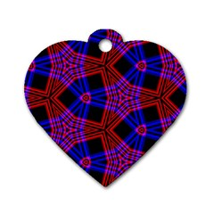 Pattern Line Dog Tag Heart (one Side)