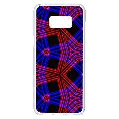 Pattern Line Samsung Galaxy S8 Plus White Seamless Case