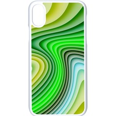 Wave Lines Pattern Abstract Apple Iphone X Seamless Case (white)