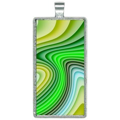 Wave Lines Pattern Abstract Rectangle Necklace by Jojostore