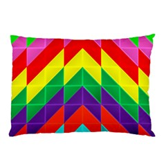Vibrant Color Pattern Pillow Case (two Sides) by Jojostore