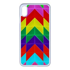 Vibrant Color Pattern Apple Iphone Xs Max Seamless Case (white) by Jojostore