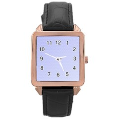 Zigzag Chevron Thin Rose Gold Leather Watch